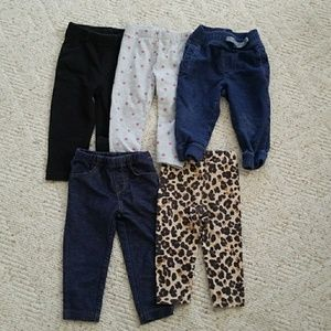 Baby girl 12 month pants lot